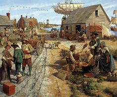 Jamestown Settlement - 1660s. Pilgrims, colonists, indentured servants, slaves.